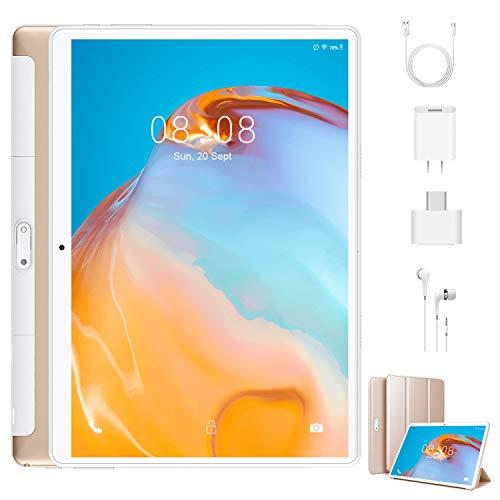 4G Tablet PC 10 Zoll Android 9.0, 3 GB RAM 32 GB ROM Quad Core CPU, IPS HD (1280 x 800), Dual Kamera/ SIM, 8500 mAh Tablets Unterstützung WiFi /GPS/Bluetooth/OTG ( Schwarz)