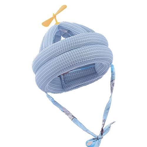 YOURPAI Gorra para bebés y niños pequeños Gorra Protectora anticolisión Casco de Seguridad para bebés Ajustable Bambú libélula Azul