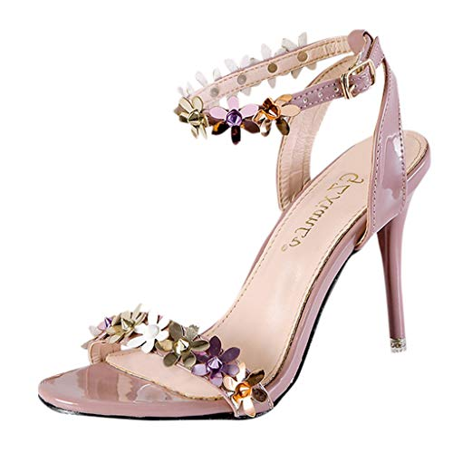 Lulupi Sandali con Tacco Donna Design Floreale 2020 Estivi New Scarpe Eleganti Moda Casual Open Toe