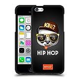 Head Case Designs Ufficiale Emoji® Hip Hop Musica Cover Nera in Morbido Gel Compatibile con Apple iPhone 5c