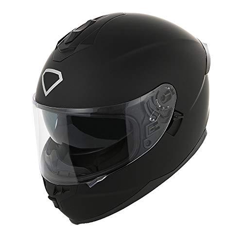 ZCRFY Casques Intégraux Moto Jet Motocross Casque Modulaire Déployez Avant Facial Sécurité Confortable Chaud Racing Casque De Vélo Double Pare-Soleil Amovible Adultes Outdoor Sport,D-61-62CM