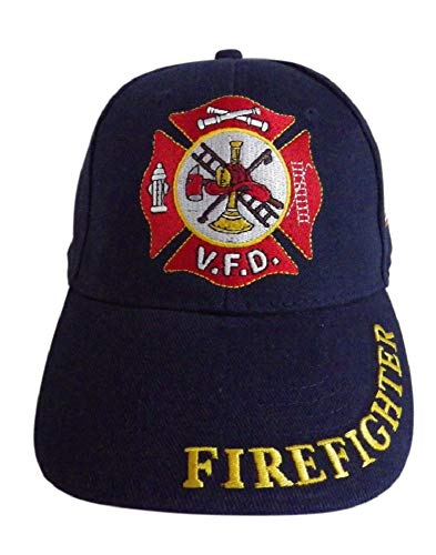 Artisan Owl Volunteer Firefighter Fire Dept Baseball Cap - - Einheitsgröße