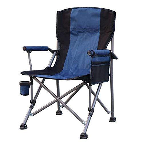 HBOY Mochila portátil ligera para acampar al aire libre, plegable, impermeable, tela Oxford, respaldo para pesca, senderismo, picnic, viajes, barbacoa, color azul