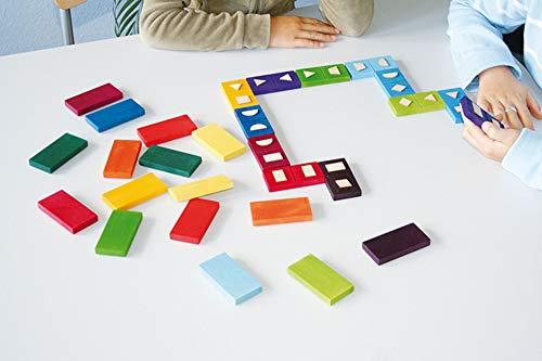 Grimms Spiel und Holz Design Domino geometrico de Madera, Grimm's