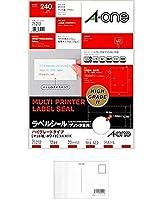 エーワン ラベルシールハイグレード A4 12面 75212 【まとめ買い3パックセット】 + 画材屋ドットコム ポストカードA