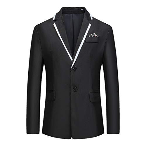 Yowablo Blazer Slim-Fit Herren Sakko Anzugjacke Herren Jacket Herren Anzug Große Größen Fashion Slim Fit Blazer, (XL,Schwarz)