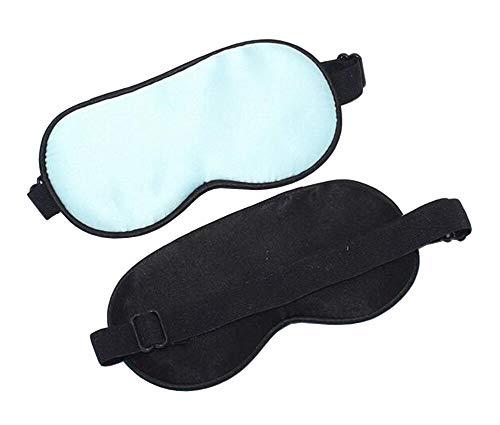 LanXi Baby Kinder Seide Augenmaske Schlafmaske atmungsaktiv hautfreundlich geruchneutral lichtdicht (Hellblau, Baby)