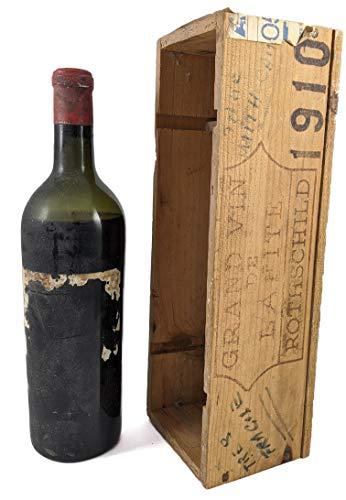 Chateau Lafite 1910 1er Grand Cru Classe Paulliac in einer Geschenkbox. Da zu vier Wein Zubehör, Korkenzieher, Giesser, Kapselabschneider,Weinthermometer, 1 x 750ml