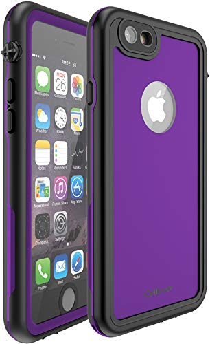 CellEver Compatible with iPhone 6 Plus / 6s Plus Waterproof Case Shockproof IP68 Certified SandProof Snowproof Full Body Protective Cover Designed for iPhone 6 Plus and iPhone 6s Plus KZ C-Purple