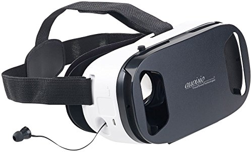 auvisio VR Headset: Virtual-Reality-Brille, In-Ear-Headset, Touch-Bedienung, Bluetooth 4.2 (3D Brillen)
