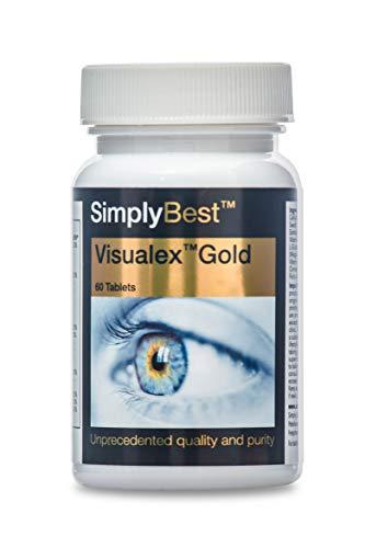 Visualex Gold para la vista - ¡Bote para 2 meses! -Combinación de 17 ingredientes - Apto para veganos - 60 comprimidos - Simplysupplements