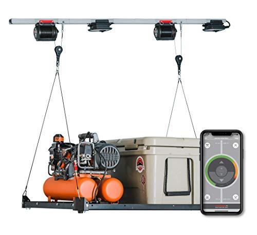 Garage Platform Lifter. Motorized Garage Storage Hoist. Garage Shelving Built to Lift, Lower and...