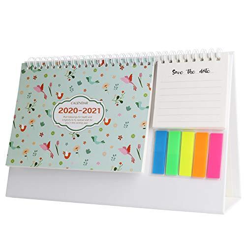Schreibtischkalender, Wochenplaner, Mini-Memo-Kalender (in englischer Sprache) Flamingo