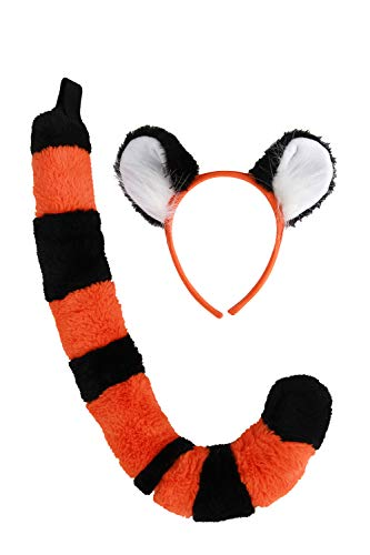 Disney Aladdin Rajah Tiger Ears and Tail Costume Kit for kids and adults