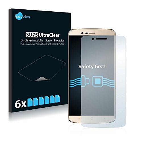 Savvies 6X Schutzfolie kompatibel mit Elephone P8000 Bildschirmschutz-Folie Ultra-transparent