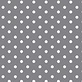 Baumwollstoff Punkte Grau Webware Meterware Popeline