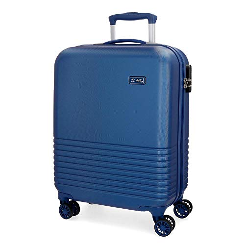 El Potro Ride Maleta de cabina Azul 40x55x20 cms Rígida ABS Cierre combinación 36L 2,7Kgs 4 ruedas dobles Equipaje de Mano
