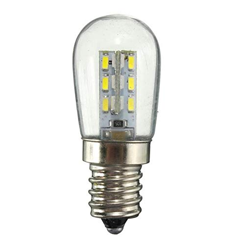 DBSUFV AC 220 / AC110V LED Lamp E14 SMD 24 LED Hoge Helderheid Glas Lampenkap Pure Warm Wit Lamp Voor Naaimachine…