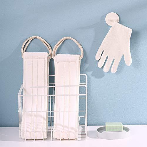 CHICIEVE Lot de 3 gants exfoliants en fibre de bambou double face pour le corps et le bain