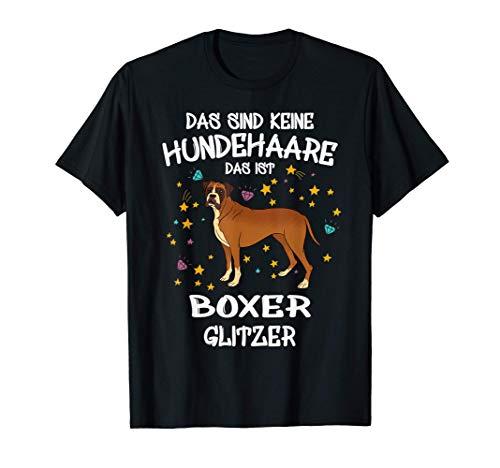Boxer Glitzer Hundehalter Geschenkidee Hunde Fun T-Shirt
