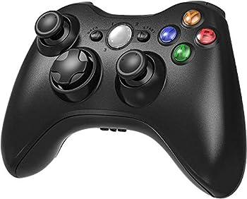 Wireless Controller for Xbox 360 Etpark Xbox 360 Joystick Wireless Game Controller for Xbox & Slim 360 PC  Black