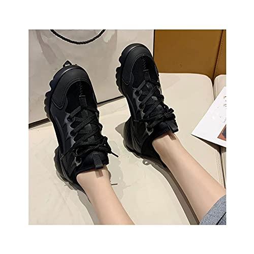 HaoLin Hombres Zapatos para Caminar Zapatillas de Moda para Correr Zapato de Plataforma Atlética Elegante Casual Fitness Cómodo Deportes Al Aire Libre Correr Informal,Black-38 EU