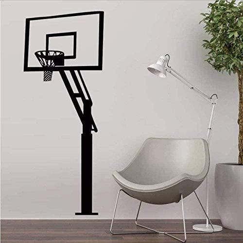 Arte de la pared Pegatinas de pared DIY Arte Tatuajes de pared Personalidad creativa Decoración Soporte de baloncesto DIY Escuela deportiva Adolescentes 56X140 cm