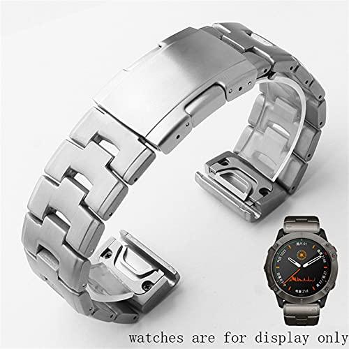 LCISCOUP Correa Reloj Correa de Acero Inoxidable 22mm 26 mm Correa de Plata Negra (Band Color : Silver, Band Width : 22mm)