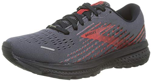 Brooks Herren Ghost 13 GTX Laufschuh, Black/Ebony/Red, 45 EU