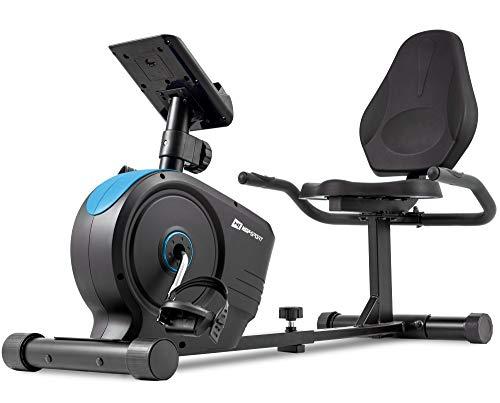 Hop-Sport Liegeergometer HS-2050L – Sitzergometer mit 8kg Flywheel System Blue