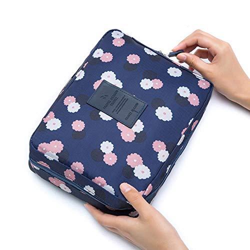 JNML Mesdames Sac cosmétique Sac de Rangement de Voyage Portable Oxford Sac à Main en Tissu Imperméable à l'eau Multi-Fonction Maquillage Wash Wash Kit, 12