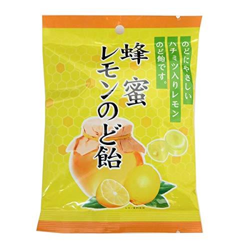 川口製菓 蜂蜜レモンのど飴 (1袋)