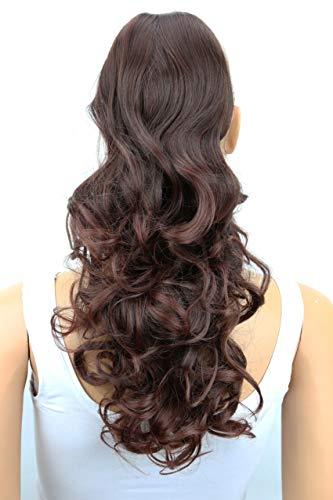 PRETTYSHOP 55cm Haarteil Zopf Pferdeschwanz Haarverdichtung Haarverlängerung VOLUMINÖS dunkelbraun mix #2T33 PH17
