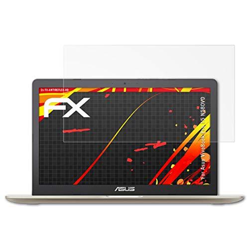 atFolix Schutzfolie kompatibel mit Asus VivoBook Pro 15 N580VD Bildschirmschutzfolie, HD-Entspiegelung FX Folie (2X)