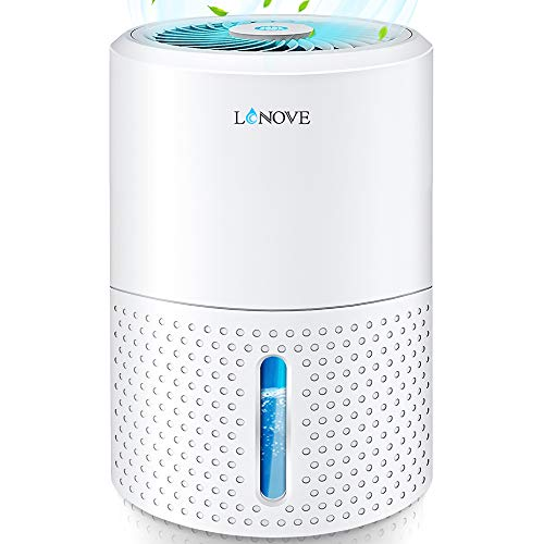 LONOVE Dehumidifier - Upgraded 2200 Cubic Feet (190 Sq ft) Mini Dehumidifiers for Home Bedroom Bathroom Basement Closet RV Garage, 1000ml (34oz) Quiet Auto-Off Electric Portable Small Dehumidifier