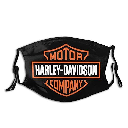 Bandanas - Mascherina per viso lavabile e riutilizzabile, per Harley Davidson anti-polvere, per uomo e donna, con 2 filtri