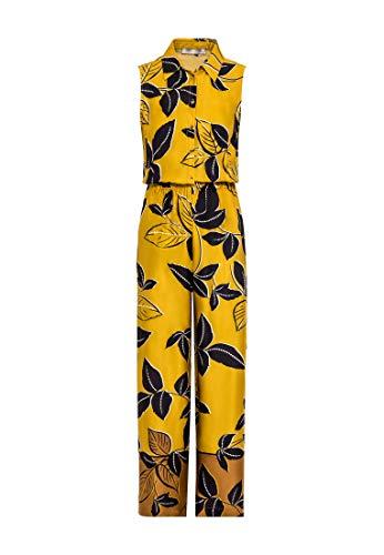 HALLHUBER Jumpsuit mit Blätterprint extraweite Beine Multicolor, 34