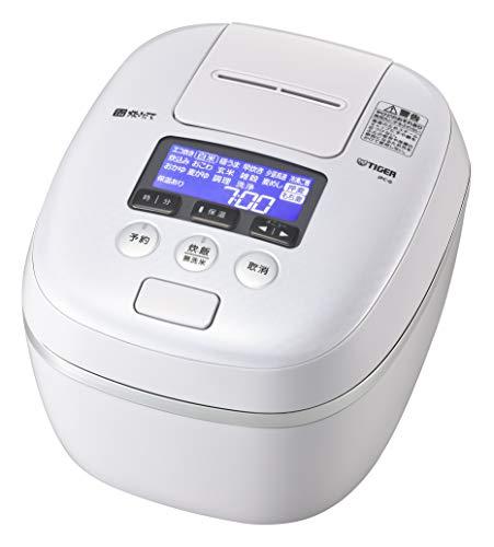 タイガー魔法瓶(TIGER) 炊飯器 圧力IH 土鍋コーティング 極うま機能付き 炊きたて 5.5合 エアリーホワイト JPC-G100WA