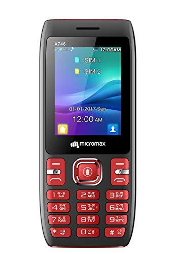 Micromax X746 (Power Saving Mode, Power Torch Link on Call, 3000mAh) (Black + Red)