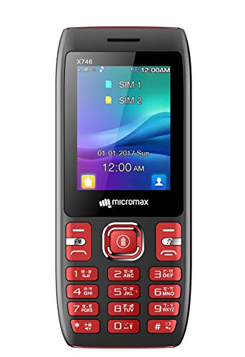 Micromax X746 (Power Saving Mode, Power Torch Link on Call, 3000mAh) (Black + Red)