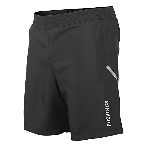 FUSION Jungen C3 Run Shorts, schwarz, XXL