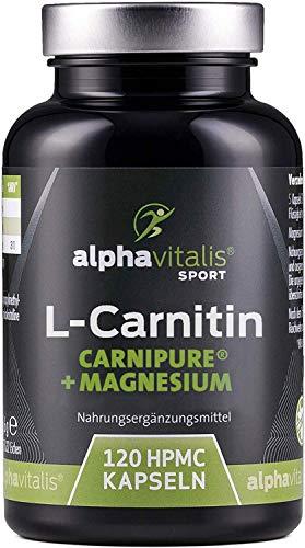 L-Carnitin Carnipure® 3000 + Magnesium-Citrat - hochdosiert, vegan, ohne Magnesiumstearat - 120 Kapseln