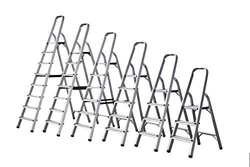 FCXBQ Escalera de Aluminio de 4 peldaños Escalera Plegable Liviana Antideslizante Servicio...