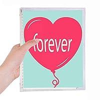 永遠にバレンタインの赤緑のハートの日 硬質プラスチックルーズリーフノートノート