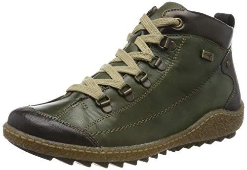 Remonte R4779, Baskets Hautes Femme, Vert (Kakao/Leaf/Antik/Leaf 52), 37 EU