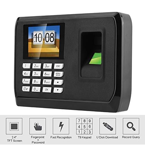 Hdliang Intelligente Biometrische Fingerprint Zeiterfassung Machine System 2,4-Zoll-Fingerprint Time Clock Mitarbeiter Check-in-Recorder-Gerät, Unterstützung USB-Download, brauchen Keine Software