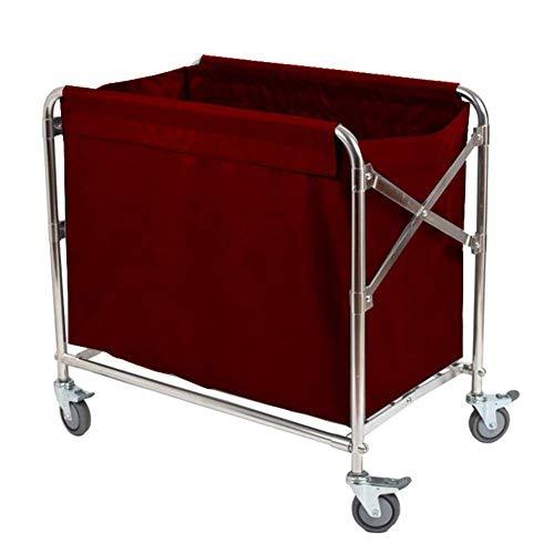 ZHFZD boodschappentrolley van metaal, opvouwbaar, Oxford-wasmiddel, afneembaar, robuust en draagbaar met duurzame wielen (kleur: bruin) Size Koffie kleur.