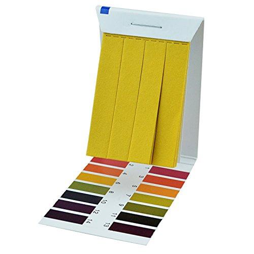 PH 1-14 Test Paper - Pistha 80 PCS PH 1-14 Test Paper Litmus Strips Tester for Saliva Urine Water Soil Testing Universal Application