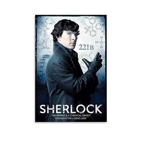 QINHUI Póster de la película Sherlock Holme Póster decorativo de la pared del arte de la sala de estar carteles del dormitorio pintura de 60 x 90 cm