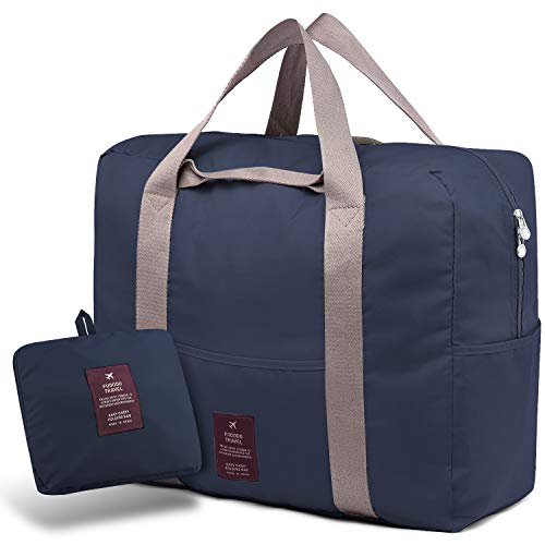 SPAHER Bolsa de Equipaje Bolsas de Viaje Plegable Duffle Bag Ligero Impermeable Organizador de Hombro de Almacenamiento de Transporte de Bolsas para IR de Compras Gimnasio Deportes Camping 40L